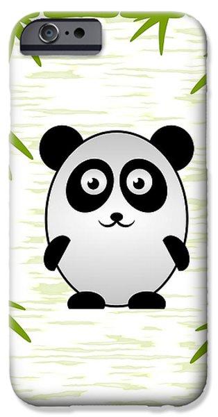 Little iPhone Cases - Panda - Animals - Art for Kids iPhone Case by Anastasiya Malakhova
