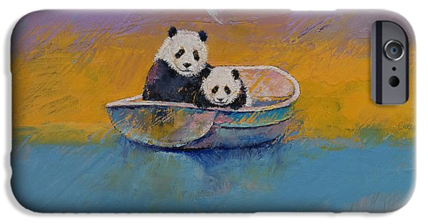 Michael Creese iPhone Cases - Panda Lake iPhone Case by Michael Creese