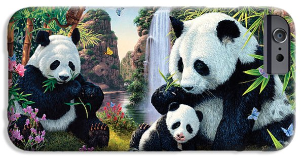 Harmonious iPhone Cases - Panda Valley iPhone Case by Steve Read