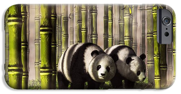 Tuan iPhone Cases - Pandas in a Bamboo Forest iPhone Case by Daniel Eskridge