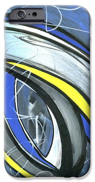 Abstract Expressionist iPhone Cases - Pandemonium 1  iPhone Case by Karyn Robinson