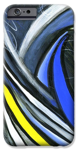 Abstract Expressionist iPhone Cases - Pandemonium 2 iPhone Case by Karyn Robinson