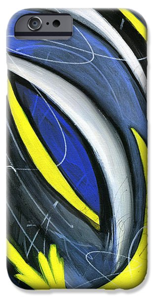 Abstract Expressionist iPhone Cases - Pandemonium 3 iPhone Case by Karyn Robinson