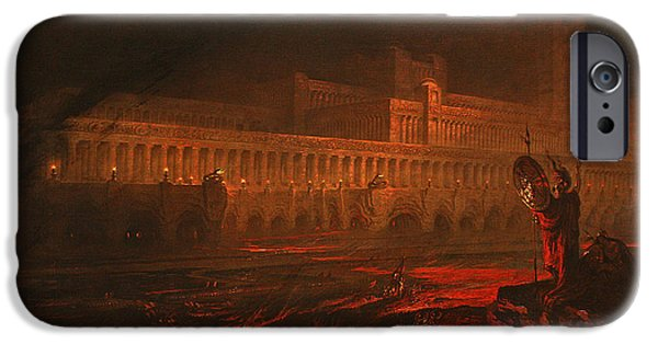 Fiery iPhone Cases - Pandemonium iPhone Case by John Martin