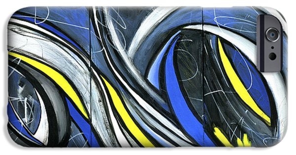 Abstract Expressionist Paintings iPhone Cases - Pandemonium  iPhone Case by Karyn Robinson