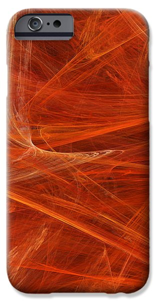 Abstract Digital Mixed Media iPhone Cases - Panel 2 Of 5 Dancing Flames 2 H Pentaptych - Abstract - Fractal Art iPhone Case by Andee Design