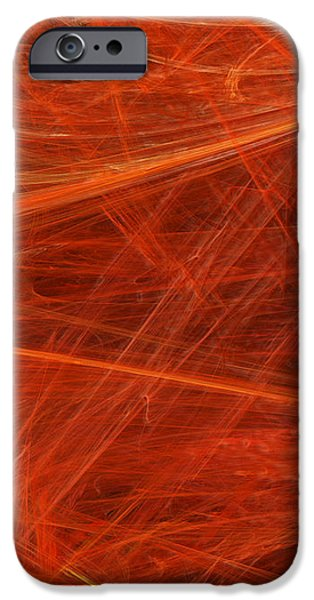 Abstract Digital Mixed Media iPhone Cases - Panel 3 Of 5 Dancing Flames 2 H Pentaptych - Abstract - Fractal Art iPhone Case by Andee Design