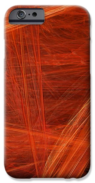 Abstract Digital Mixed Media iPhone Cases - Panel 4 Of 5 Dancing Flames 2 H Pentaptych - Abstract - Fractal Art iPhone Case by Andee Design