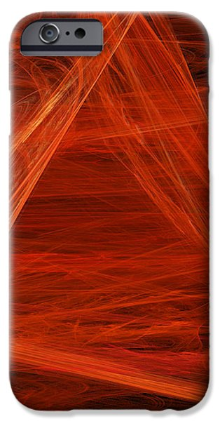 Abstract Digital Mixed Media iPhone Cases - Panel 5 Of 5 Dancing Flames 2 H Pentaptych iPhone Case by Andee Design