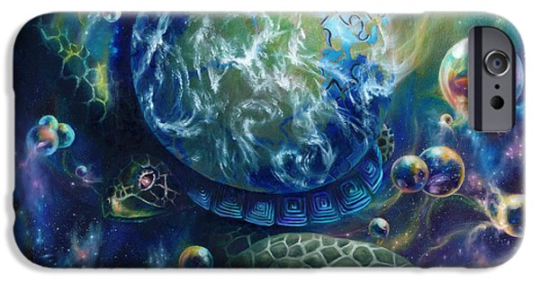 Metaphysical Paintings iPhone Cases - Pangaea iPhone Case by Kd Neeley
