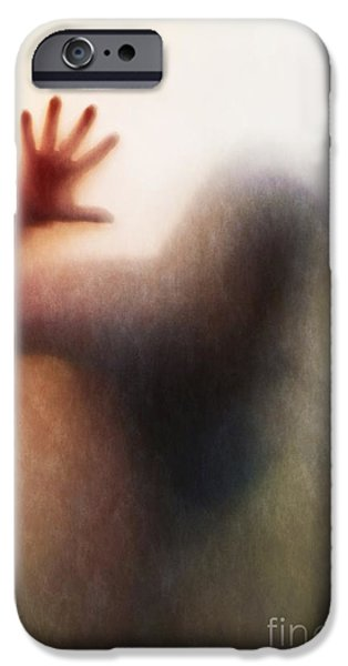 Human Spirit iPhone Cases - Panic Silhouette iPhone Case by Carlos Caetano