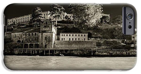 Alcatraz iPhone Cases - Panorama Alcatraz Up Close iPhone Case by Scott Campbell