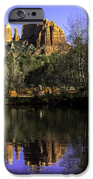 Panorama at Red Rocks Crossing in Sedona AZ iPhone Case by Teri Virbickis