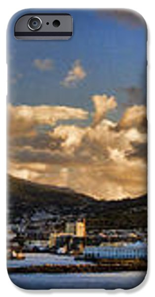 Panorama Cape Town Harbour at Sunset iPhone Case by David Smith
