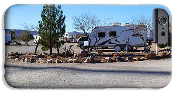 Interior Scene iPhone Cases - Panorama Cedar Cove RV Park Street 2 iPhone Case by Roena King