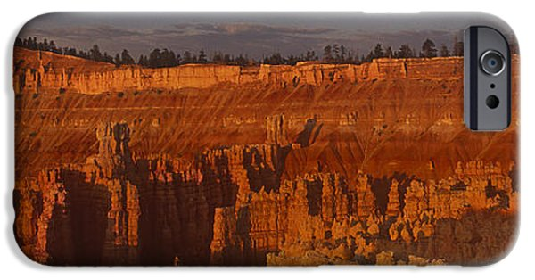 Dave iPhone Cases - Panorama Moonrise Sunset Point Bryce Canyon National Park Utah iPhone Case by Dave Welling
