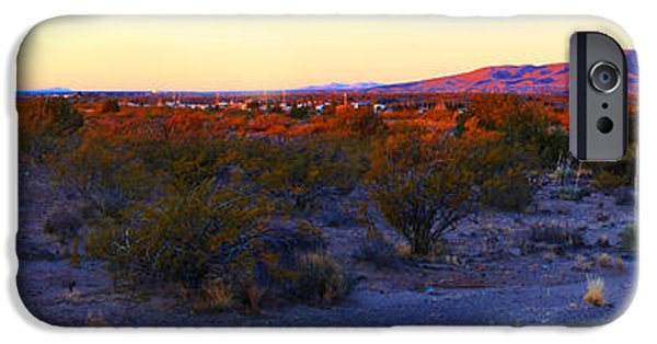Interior Scene iPhone Cases - Panorama Morning View of Mountains iPhone Case by Roena King