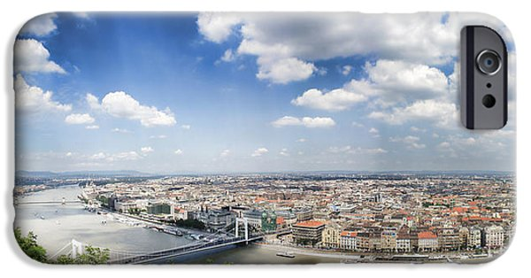 Pleasure iPhone Cases - Panorama of Budapest iPhone Case by Gosia K