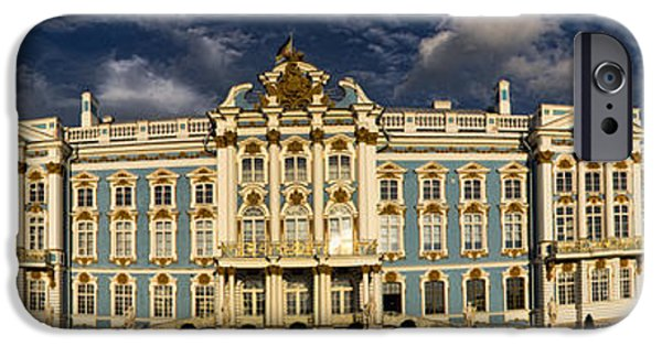 Built Structure iPhone Cases - Panorama of Catherine Palace iPhone Case by David Smith