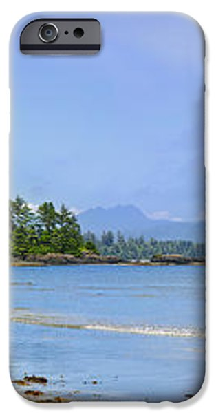Panorama of Pacific coast on Vancouver Island iPhone Case by Elena Elisseeva