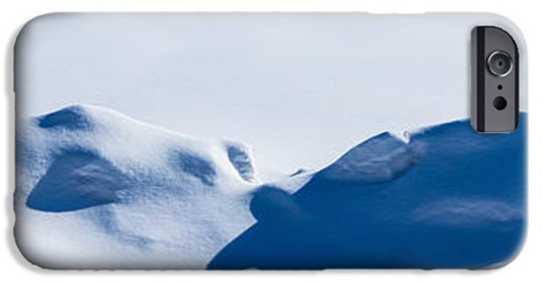 Snowbank iPhone Cases - Panorama of snowdrifts iPhone Case by Alexander Senin