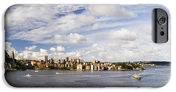 White House iPhone Cases - Panorama of Sydney Harbor iPhone Case by David Smith