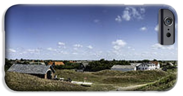 North Sea iPhone Cases - Panorama of the island Mando Denmark iPhone Case by Frank Bach