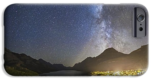 Stellar iPhone Cases - Panorama Of Waterton Lakes National iPhone Case by Alan Dyer