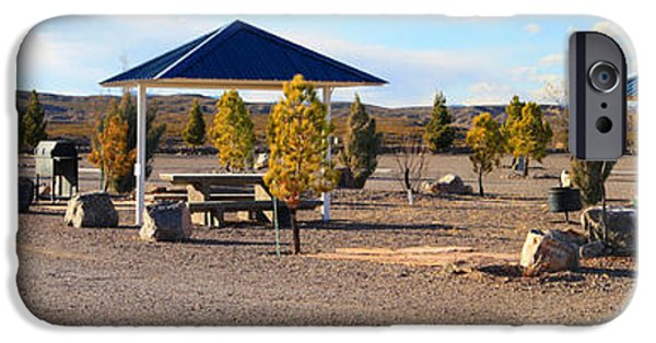Interior Scene iPhone Cases - Panorama Outdoor Community Area iPhone Case by Roena King