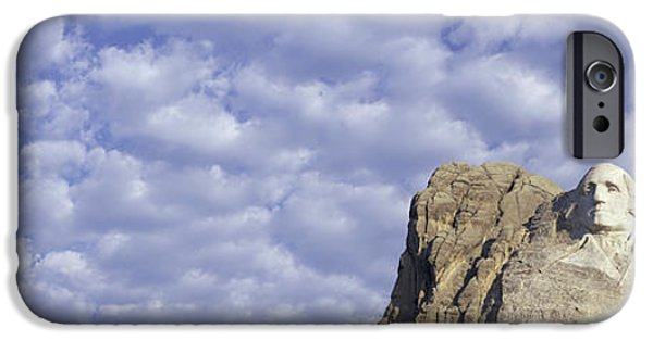 President iPhone Cases - Panoramic Image With White Puffy Clouds iPhone Case by Panoramic Images