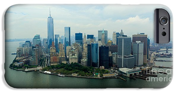 Empire State iPhone Cases - Panoramic Manhattan iPhone Case by Stephen Allen