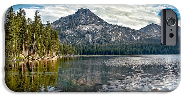 Haybale iPhone Cases - Panoramic Of Anthony Lake iPhone Case by Robert Bales