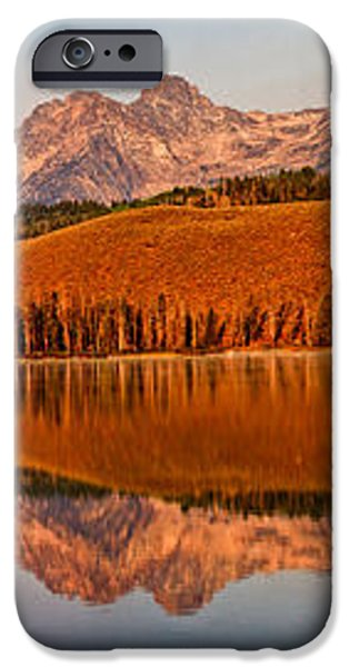 Panoramic Of Little Redfish Lake iPhone Case by Robert Bales