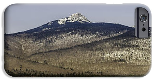 Mt Chocorua iPhone Cases - Panoramic of Mount Chocorua iPhone Case by Laura Duhaime