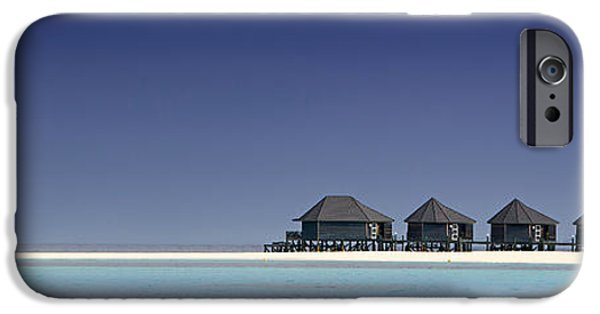 Panoramic Pyrography iPhone Cases - Panoramic Of The Islands Maildives iPhone Case by Gilles Lougassi