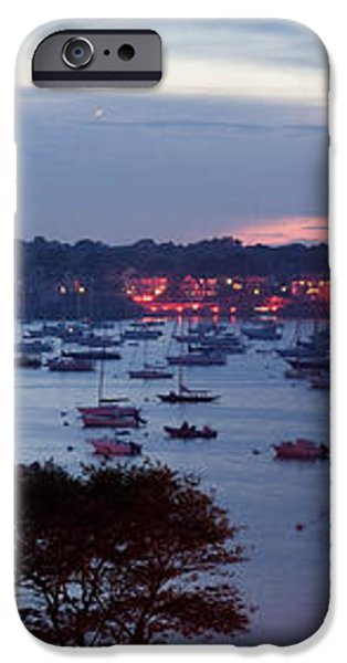 Panoramic of the Marblehead Illumination iPhone Case by Jeff Folger
