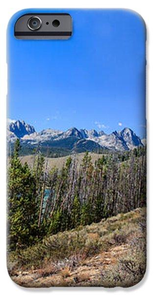 Panoramic Sawtooth Range And Little Redfish Lake iPhone Case by Robert Bales