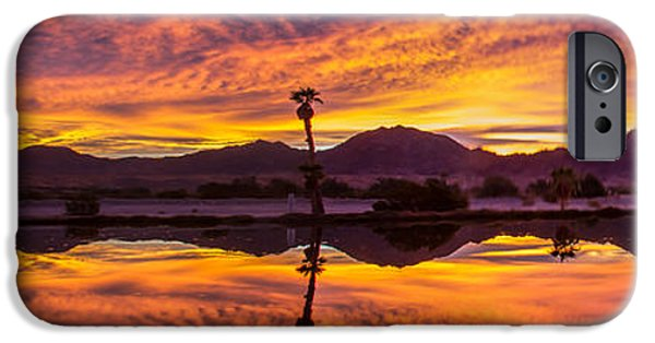 United States iPhone Cases - Panoramic Sunrise iPhone Case by Robert Bales