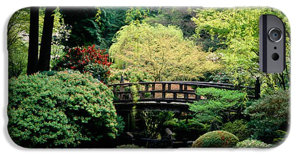 Garden Scene iPhone Cases - Panoramic View Of A Garden, Japanese iPhone Case by Panoramic Images