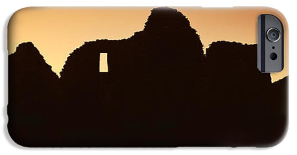 Chaco iPhone Cases - Panoramic View Of Chaco Canyon Indian iPhone Case by Panoramic Images