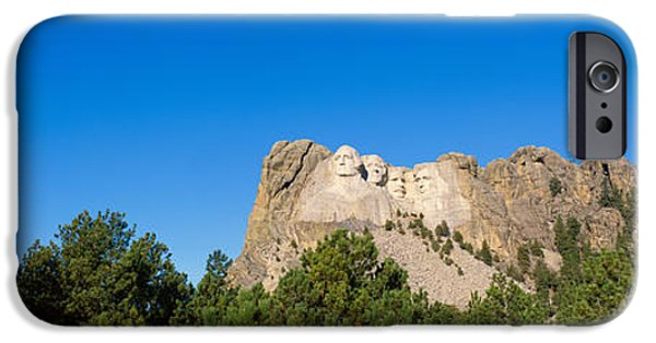 President iPhone Cases - Panoramic View Of Mount Rushmore iPhone Case by Panoramic Images