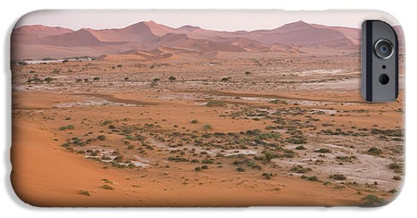 Sand Dunes iPhone Cases - Panoramic View Of Sand Dunes Viewed iPhone Case by Panoramic Images