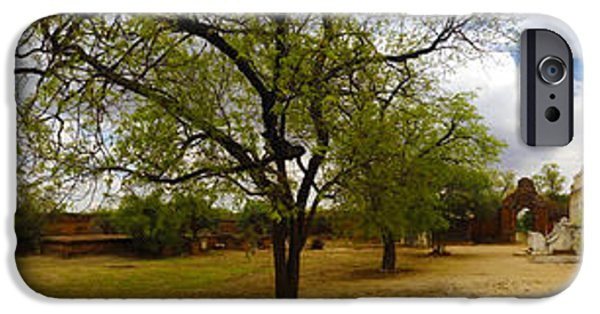 Buddhist iPhone Cases - Panoramic View Of Small Monastery Compound Near West Pwazaw Village Bagan Burma iPhone Case by Ralph A  Ledergerber-Photography