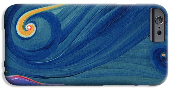 Fertility Paintings iPhone Cases - Panspermia 2 iPhone Case by First Star Art