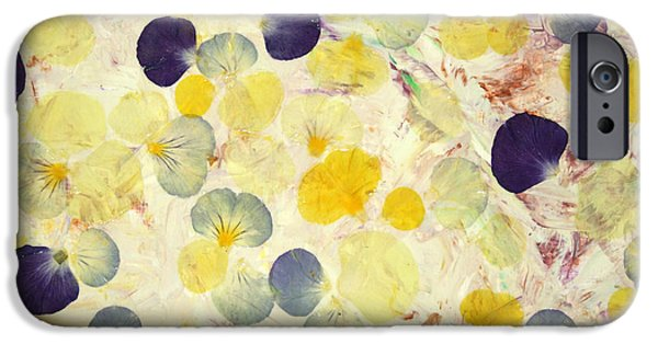 Pansy iPhone Cases - Pansy Petals iPhone Case by James W Johnson