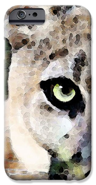 Panther iPhone Cases - Panther Art - Floridas Feline iPhone Case by Sharon Cummings