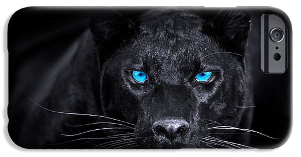 Panther Digital iPhone Cases - Panther iPhone Case by Jan Rafael