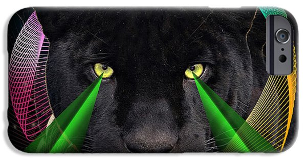 Panther Digital iPhone Cases - Panther iPhone Case by Mark Ashkenazi