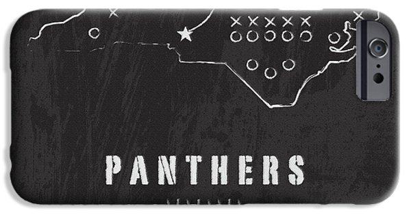 Panther Digital iPhone Cases - Panthers Country 2 iPhone Case by Damon Gray