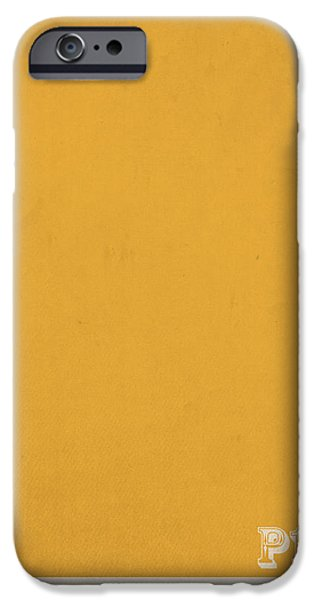 Pantone iPhone Cases - Pantone 143 Mustard Yellow Color on Worn Canvas iPhone Case by Design Turnpike